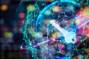 digital cyber security key concept