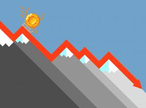 crypto fall concept