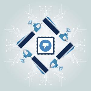 social media hesitates crypto
